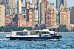 Ferryboat na hudsonie Zdjęcia Royalty Free