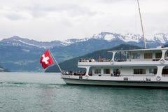 Ferryboat na Jeziornej lucernie Obrazy Royalty Free