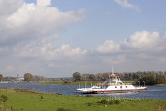 Ferryboat near Wijk bij Duurstede Stock Photo