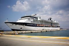 Ferryboat no porto Fotografia de Stock