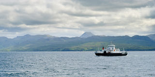Ferryboat reaching Armadale, Skye, Scotland Stock Photos