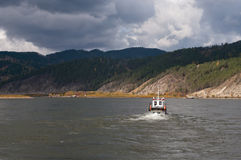 Ferryboat on the river Stock Image