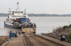 Ferryboat on the Mekong river Royalty Free Stock Photos
