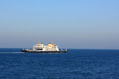 Ferryboat in the sea Royalty Free Stock Image