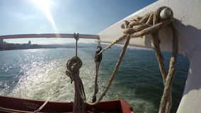 Ferryboat and the Sea. Video stock footage