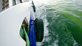 Ferryboat and the Sea. Video stock video