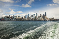 Ferryboat and the Seattle Skyline Stock Photos