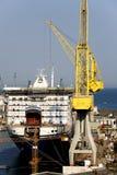 Ferryboat sob a construção em um estaleiro Fotografia de Stock Royalty Free