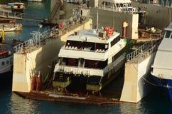 Ferryboat sob o reparo imagens de stock royalty free