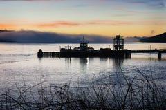 Ferryboat Sunrise Stock Images