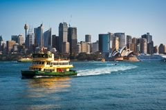 A Ferryboat in Sydney Harbour, Australia. royalty free stock photos