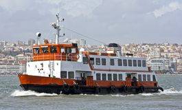 Ferryboat on the Tagus in Portugal. Ferryboat on the  river Tagus in Portugal Royalty Free Stock Photo