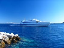 Ferryboat to Tremity islands Stock Image