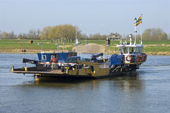 Ferryboat transporting cars and biker Royalty Free Stock Photography