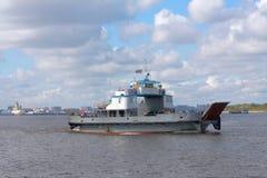 Ferryboat on Volga river in Nizhny Novgorod Royalty Free Stock Image