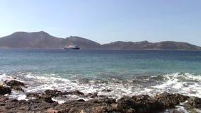 Ferryboat w Cyclades zbiory wideo