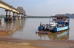 Ferryboat w Zuari rzece w Goa Zdjęcie Royalty Free