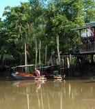 Ferryboats на реке Меконг, Таиланде Стоковая Фотография RF