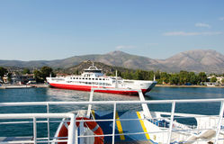 Ferryboats in habour royalty free stock image