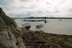 Ferryboats na Ile De Brehat w Brittany zdjęcie royalty free