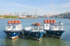Ferryboats no ria de Bilbao Fotos de Stock Royalty Free