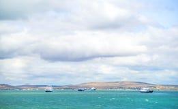 Ferryboats w morze czarne Obraz Royalty Free