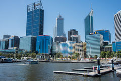 Ferrying into Elizabeth Quay Royalty Free Stock Photography