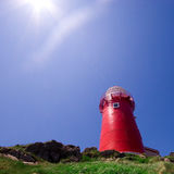 Ferryland Lighthouse. Saturated photograph of the lighthouse at Ferryland, Newfoundland, Canada Royalty Free Stock Photos