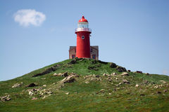 Ferryland Lighthouse. Saturated photograph of the lighthouse at Ferryland, Newfoundland, Canada Stock Photography