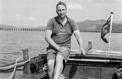 Ferryman in Barmouth, Wales, Großbritannien Stockbild