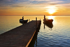 The ferrymen beginning ssu day of travajo Royalty Free Stock Images