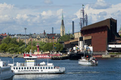 Ferrys und Wasamuseum Stockfoto