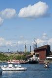 Ferrytraffic en Wasamuseum Stock Afbeelding