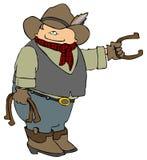 Fers à cheval de cowboy Image libre de droits