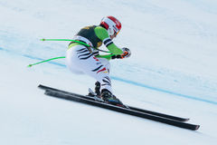 FERSTL Josef (GER). VAL GARDENA, ITALY - DECEMBER 21:  FERSTL Josef (GER) races down the Saslong competing in the Audi FIS Alpine Skiing World Cup MEN'S DOWNHILL Royalty Free Stock Images