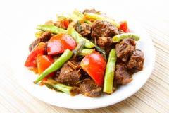 Fertania frybeef mięso obrazy stock