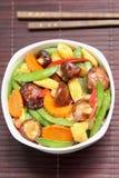fertania smażący pieczarkowy warzywo Fotografia Royalty Free