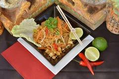 Fertanie smażący warzywa i tofu naczynie Obraz Royalty Free