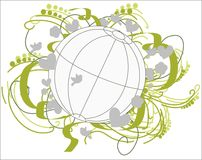 Fertile Environment Globe. Stock Photo