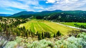 Fertile Farmland along the Nicola River between Merritt and Spences Bridge in British Columbia. Canada royalty free stock photos