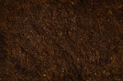 Fertile garden soil texture background top view stock image