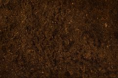 Fertile garden soil texture background top view stock images