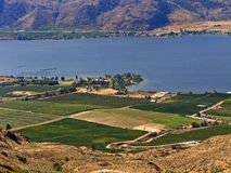 Fertile Land. Taken in Osoyoos, BC, Canada. This is desert country where much of our fruit and wine comes from stock images