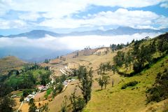 The fertile land of the Andes near Banos. Ecuador Stock Image