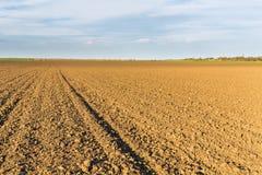 Fertile land, arable crop field, agricultural landscape.  Royalty Free Stock Images