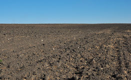 Fertile, plowed soil of an agricultural field Royalty Free Stock Photo