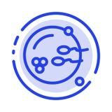 Fertile, Procreation, Reproduction, Sex Blue Dotted Line Line Icon vector illustration