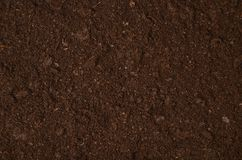 Fertile garden soil texture background top view royalty free stock photos