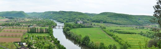 Fertile valley of the Dordogne river Royalty Free Stock Photo