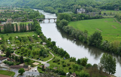Fertile valley of the Dordogne river Stock Photography